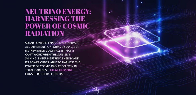 NEUTRINO ENERGY: HARNESSING THE POWER OF COSMIC RADIATION